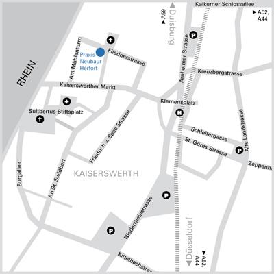 Stadtplan Kaiserswerth